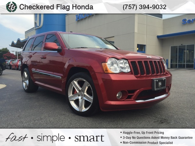 pre owned 2009 jeep grand cherokee srt8 4d sport utility in norfolk hrr25876 checkered flag honda. Black Bedroom Furniture Sets. Home Design Ideas
